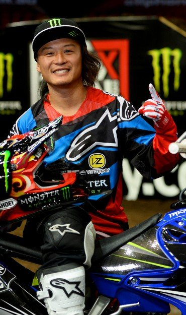 Taka Higashino at 2015 SX Australian Round 5 in Sydney