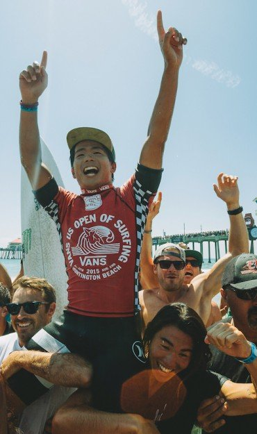Hiroto Ohhara competes in the 2015 US of Open of Surf.