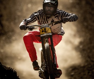 Troy Brosnan competes in the 2015 UCI MTB World Cup in Lenzerheide, Switzerland