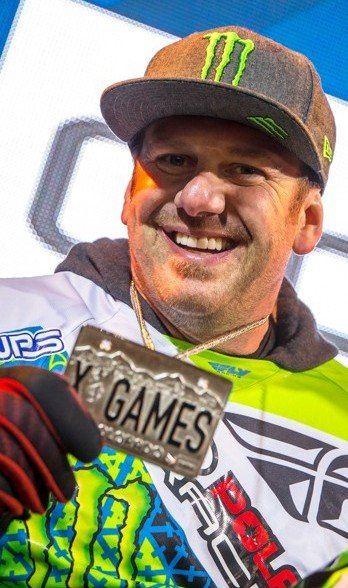 Paul Thacker medal ceremony at 2016 Winter X Games.