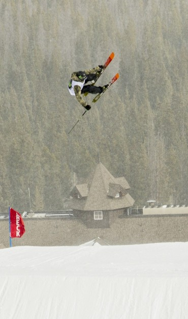 Colby Stevenson competes in the 2015 Winter Dew Tour.