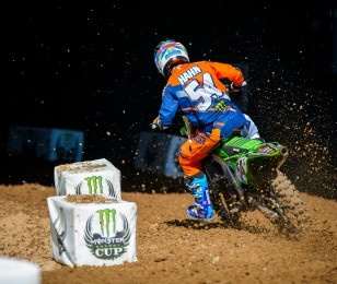 Will Hahn competes in the 2015 Red Bud MX Race