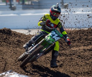 Austin Forkner during the 2016 SX season in Daytona
