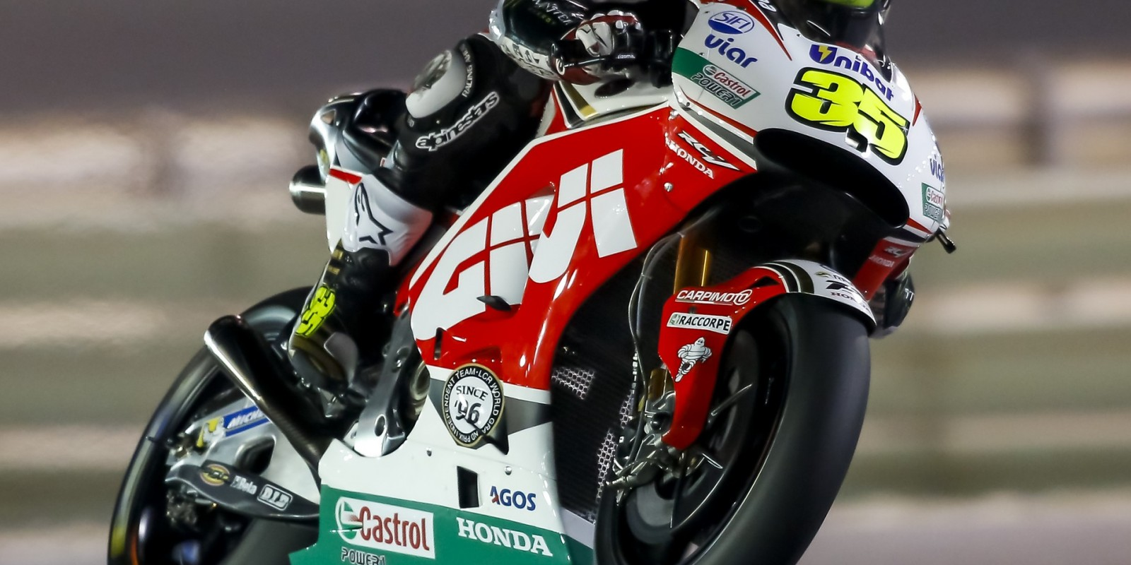 Cal Crutchlow at the 2016 MotoGP Qatar test, Thursday Free practice