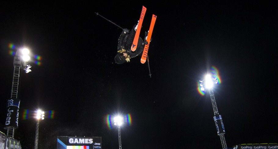 Jossi Wells competes at the 2015 Winter X-Games in Aspen.