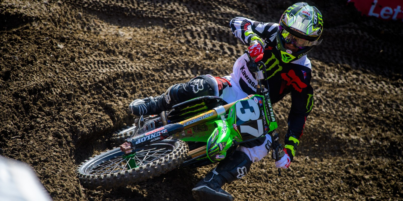 Monster athletes compete in the Supercross season in Santa Clara