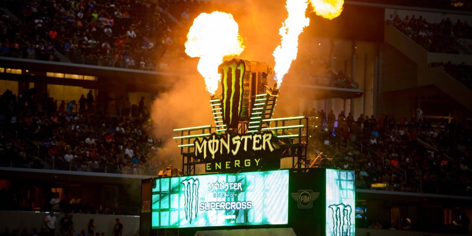 Monster athletes competes in the 2016 Supercross season.