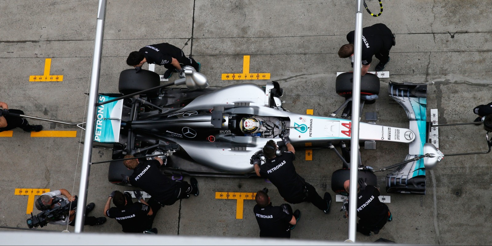 Saturday images of Lewis Hamilton from round three of the FIA Formula One World Championship