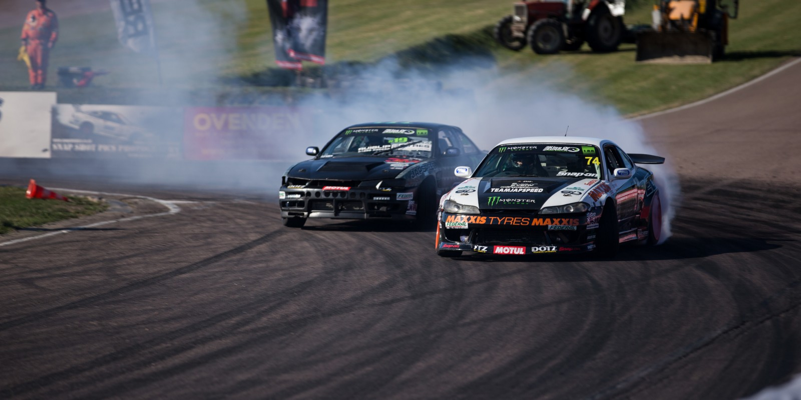 Paul Smith of Team Japspeed at round four of the King of EuropeDrift Pro Series
