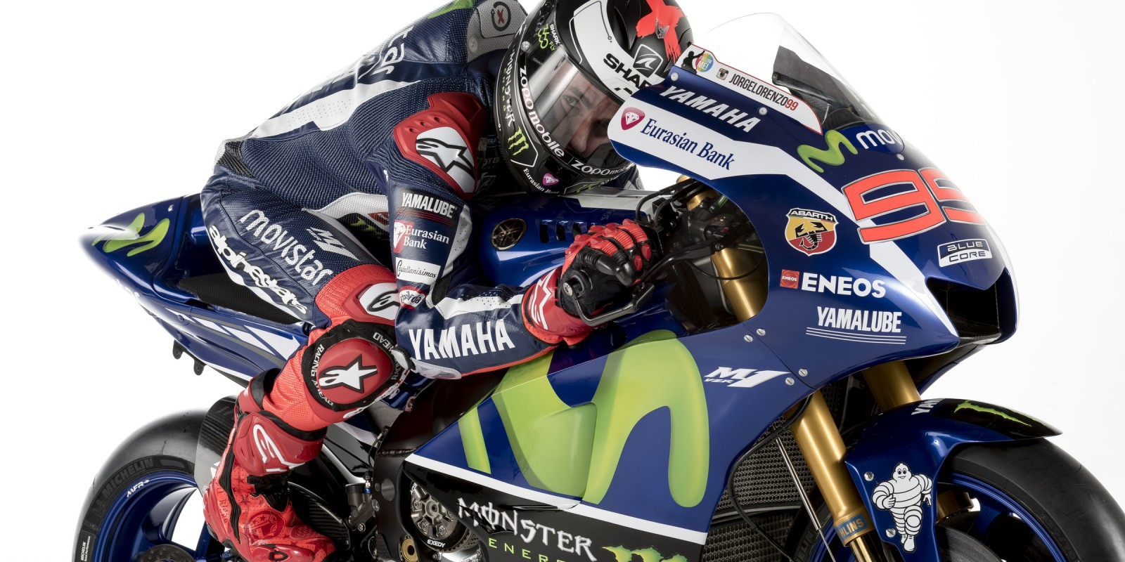 Images of MotoGP champion Jorge Lorenzoi in a pre-season shoot for Yamaha