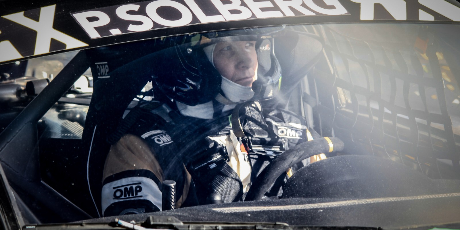 Petter Solberg at the World Rallycross of Germany hosted in Hockenheim