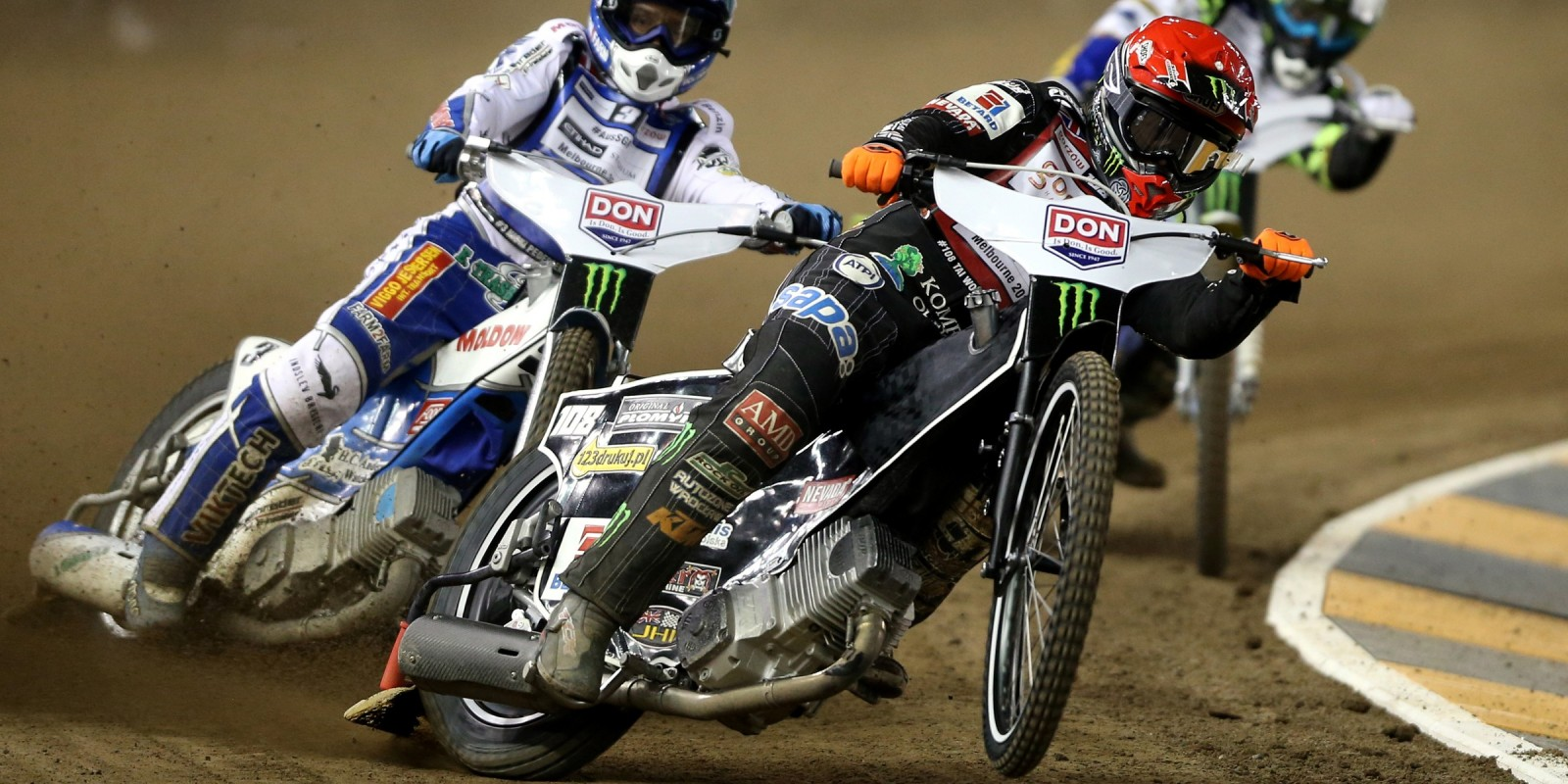 Images of speedway world champion Tai Woffinden at the Australian SGP
