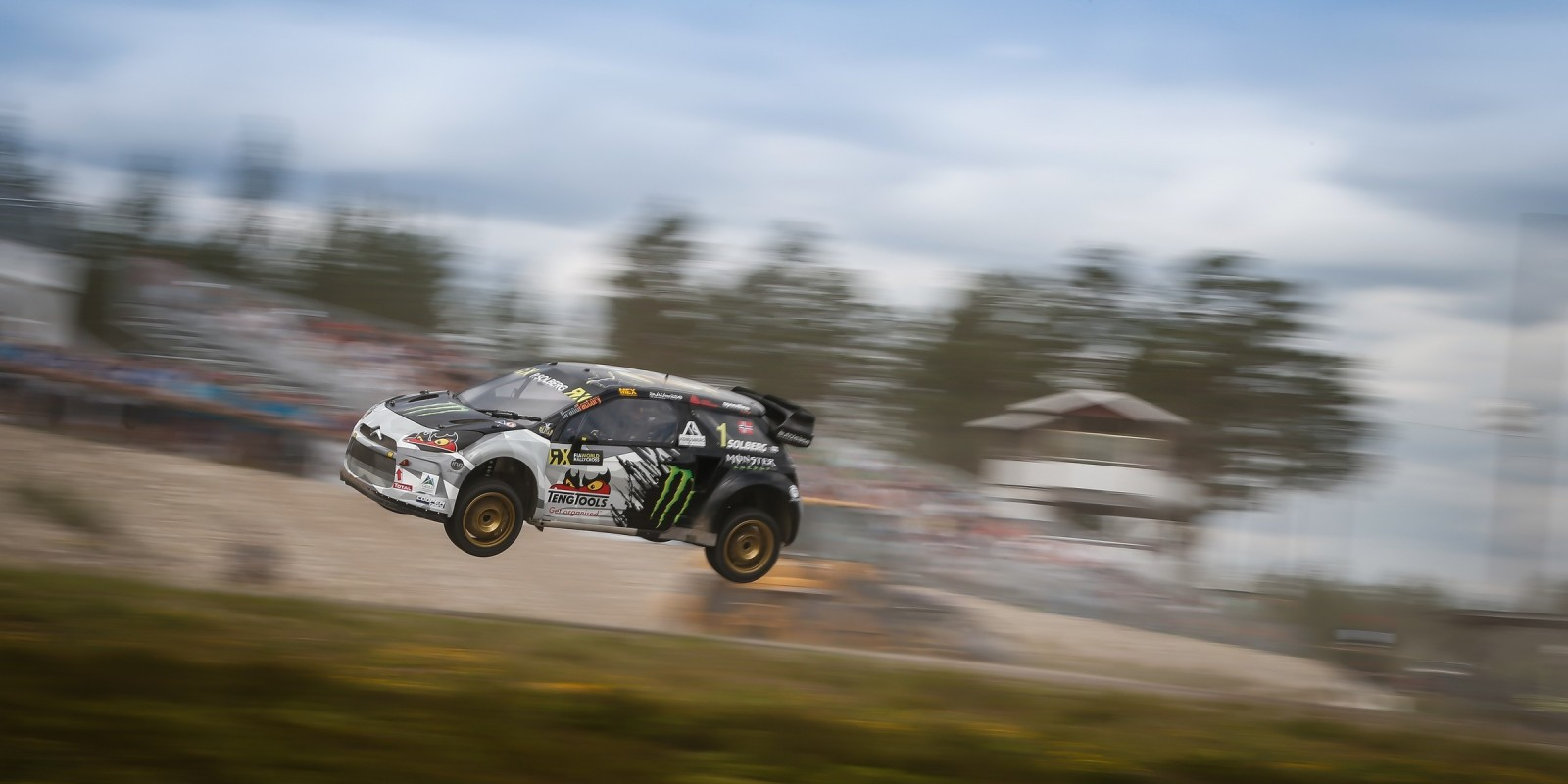 Petter Solberg  at round six of the FIA World Rallycross Championship