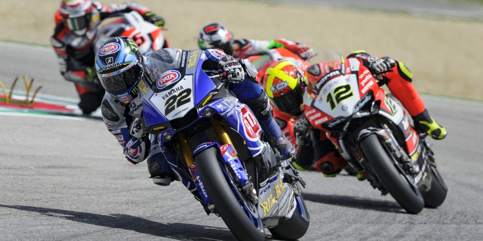 Alex Lowes in action at Imola for the fourth round of 2016 WorldSBK