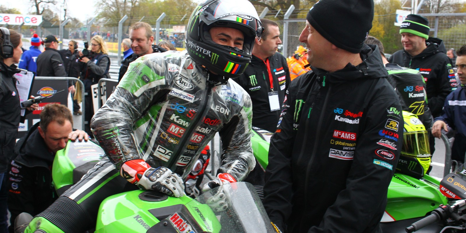 Leon Haslam at round two Oulton Park, Round Two