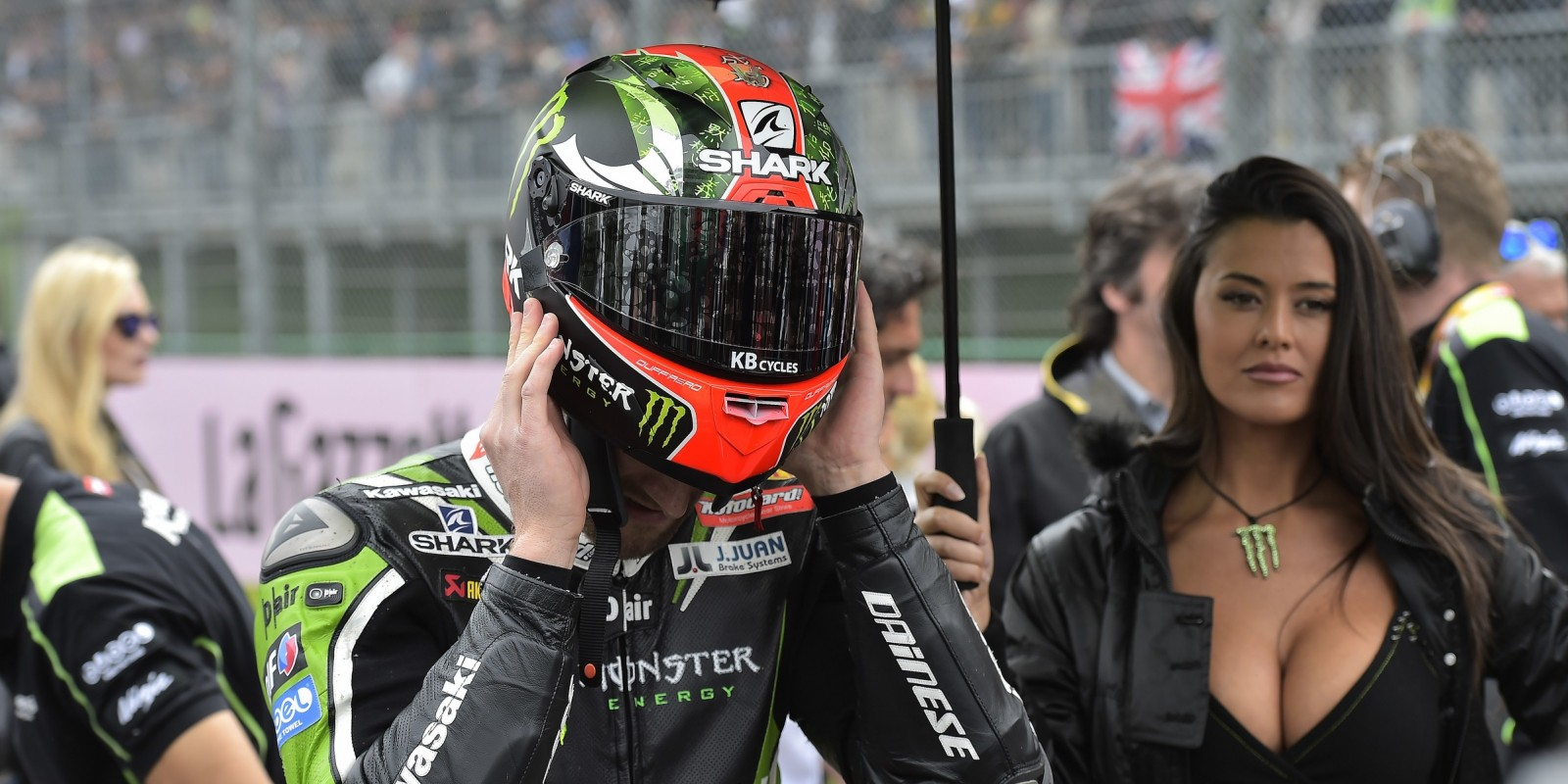 Tom Sykes in action and on the grid at the fifth round of the WorldSBK championship at Imola