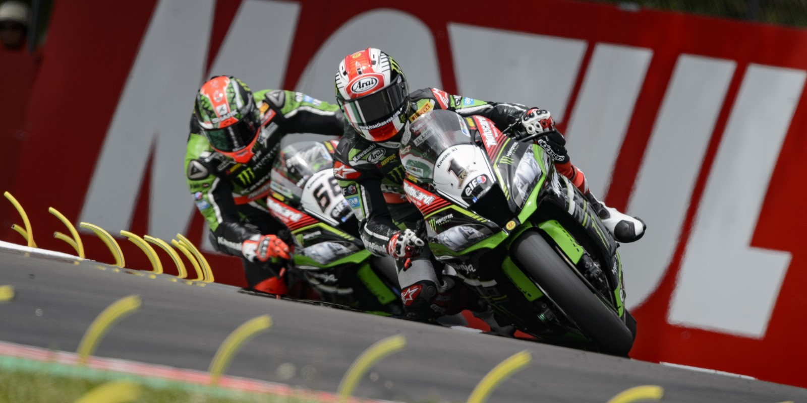 Jonathan Rea in action and on the grid at the fifth round of the WorldSBK championship at Imola