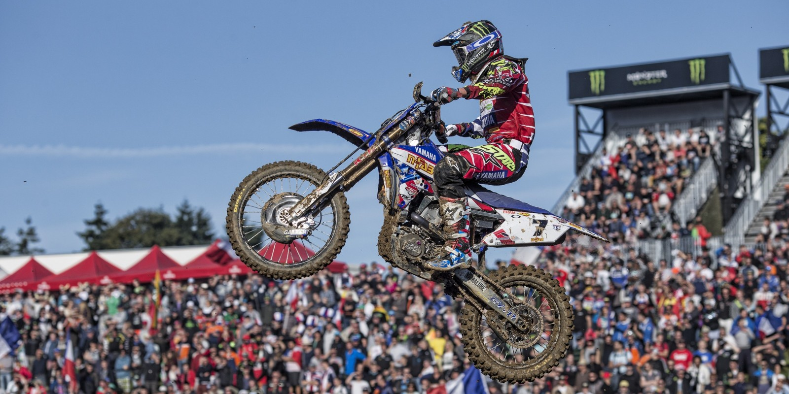Monster Energy athlete Justin Barcia at the 2015 Monster Energy Motocross of Nations in Ernee, France.