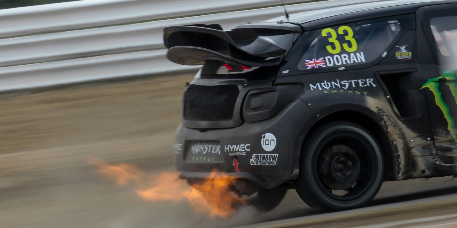 Liam Doran at round nine of the FIA World Rallycross Championship hosted in France