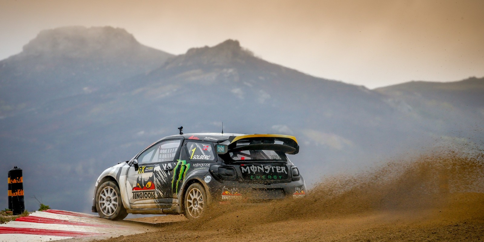 Petter Solberg during day one of the World RX of Portugal
