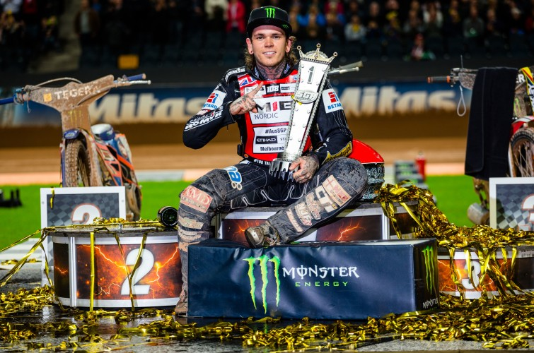 Tai Woffinden at the 2015 Stockholm Speedway Grand Prix