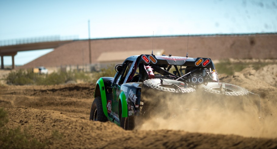Monster athletes compete during the 2016 Mint 400 Off Road race