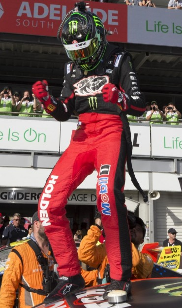 Holden Race Team's James Courtney at the 2016 Clipsal 500