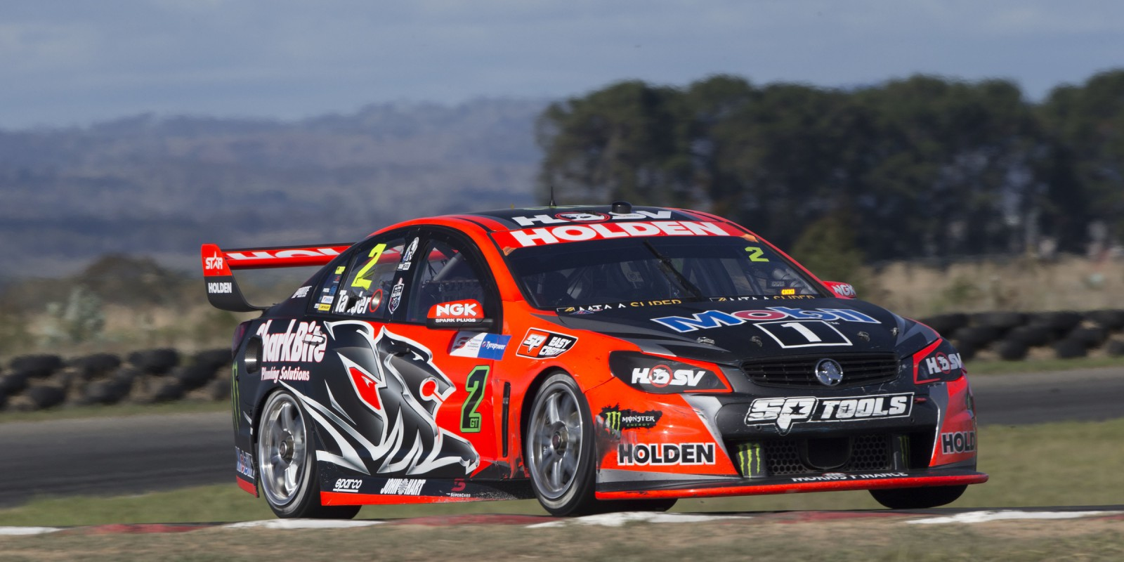 Holden Race Team's Garth Tander at the 2016 V8 Supercars Race in Symmons Plains