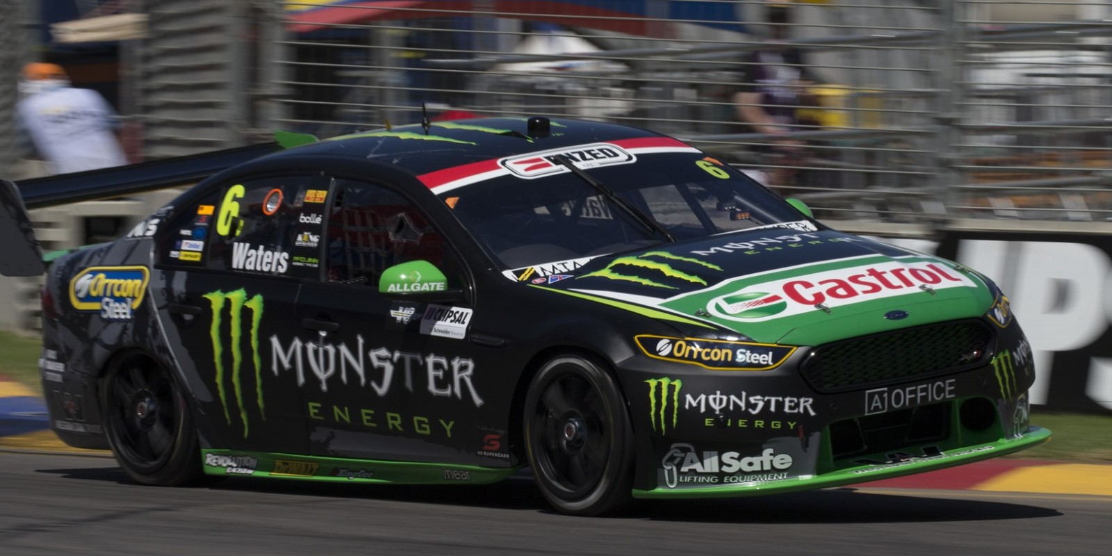 Monster Energy Racing's Cameron Waters at the 2016 Clipsal 500