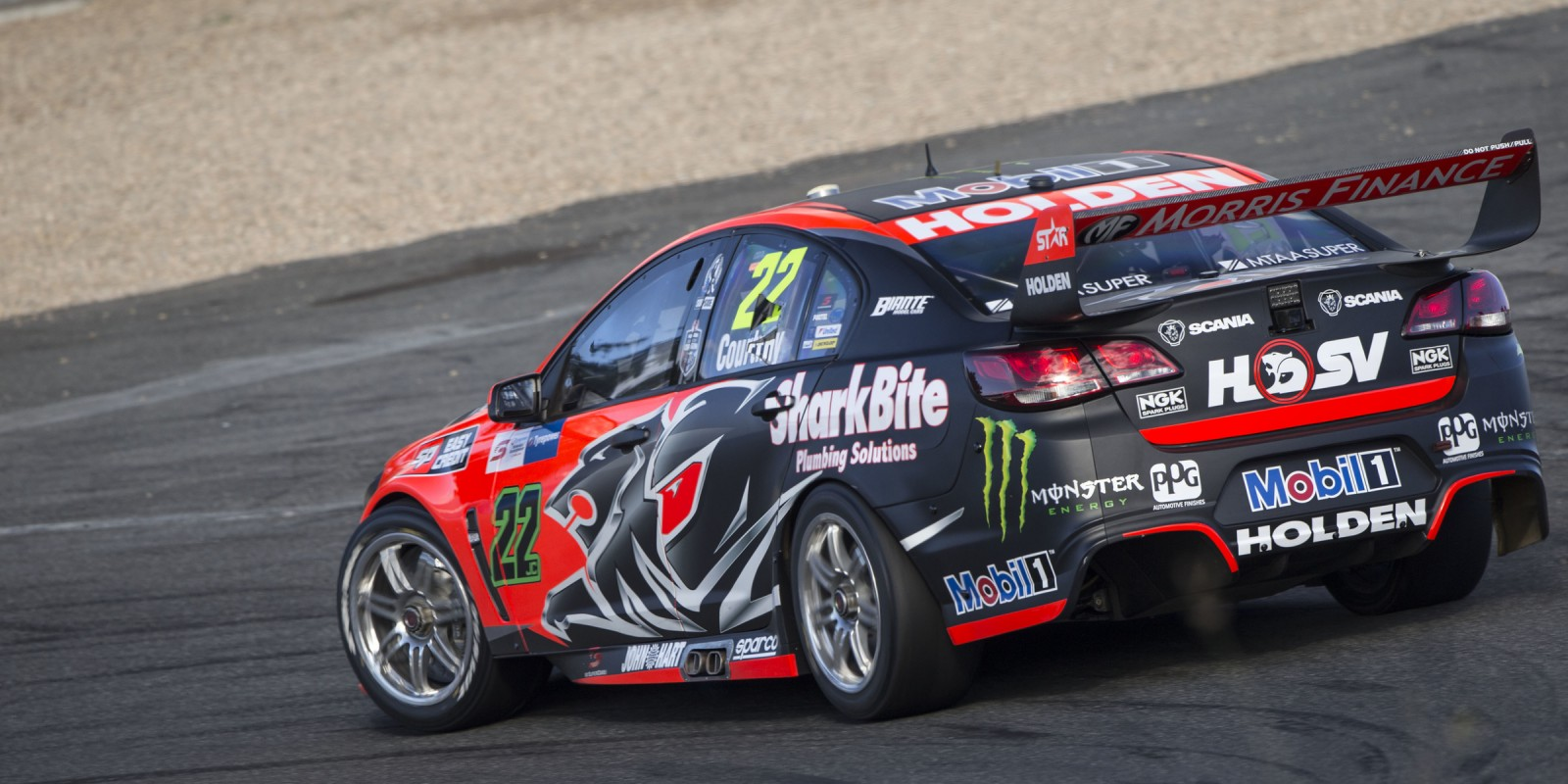 Holden Race Team's James Courtney at the 2016 V8 Supercars Race in Symmons Plains