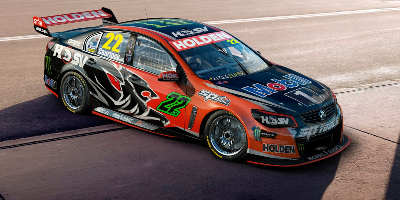 Monster rides with JC in hunt for 2016 V8 Supercars crown