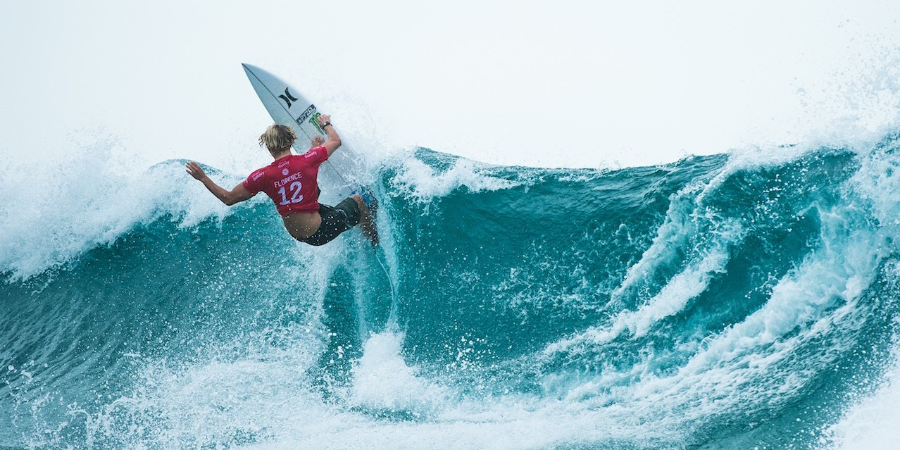 John John Florence during Quicksilver Pro