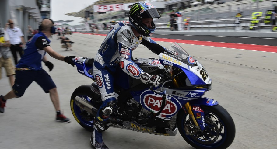 Alex Lowes at the Sepang round of 2016 World SBK