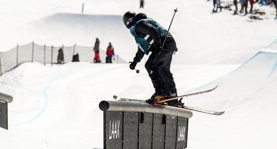 Gus Kenworthy competing at the European Open in Laax, Switzerland
