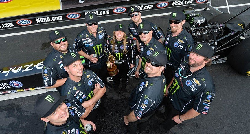 Brittany Force victorious at the 47th annual Amalie Motor Oil NHRA Gatornationals