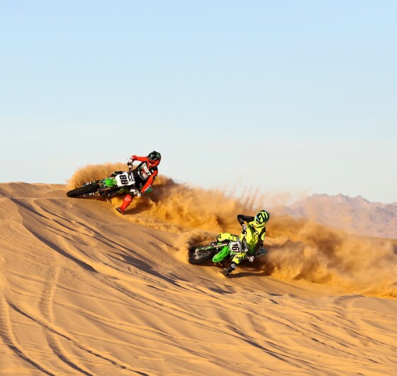 Jeremy Stenberg and Jeremy McGrath rides in Glamis for Doonies 2.