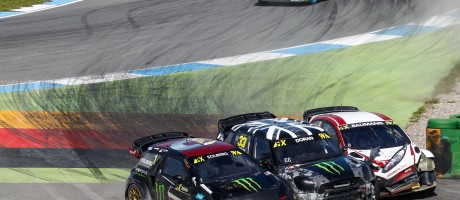 Sunday images from round two of the FIA World Rallycross Championship at Hockenheim, Germany
