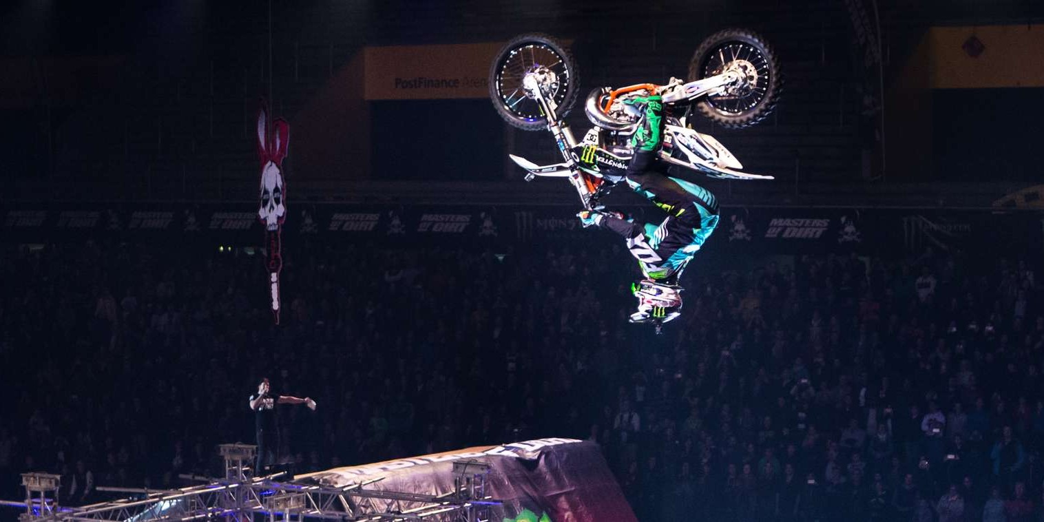 Matej Cesak performing at Masters of Dirt in Bern.