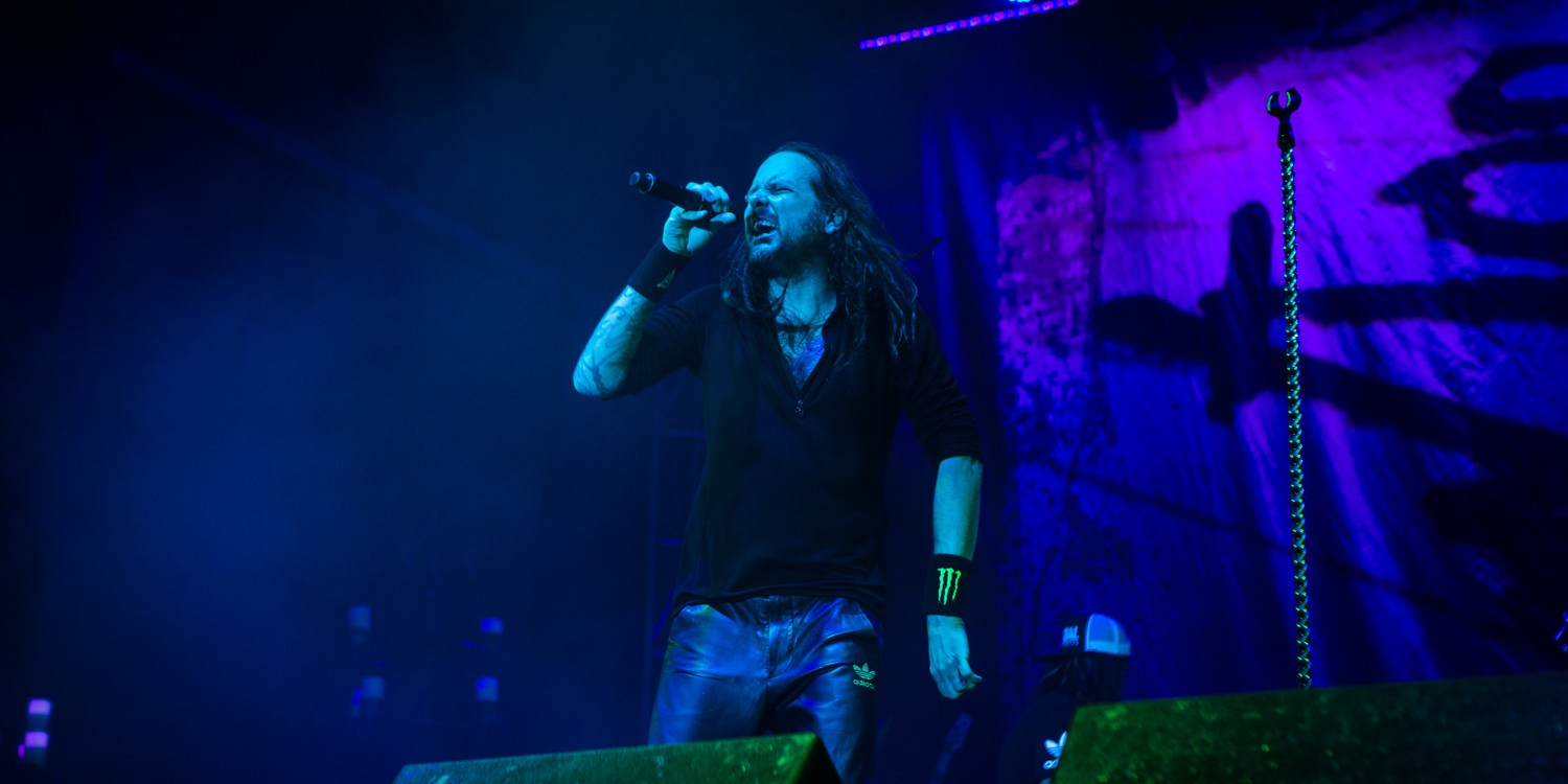 Jonathan Davis from Korn at 2015 Welcome to Rockville in Jacksonville, Florida