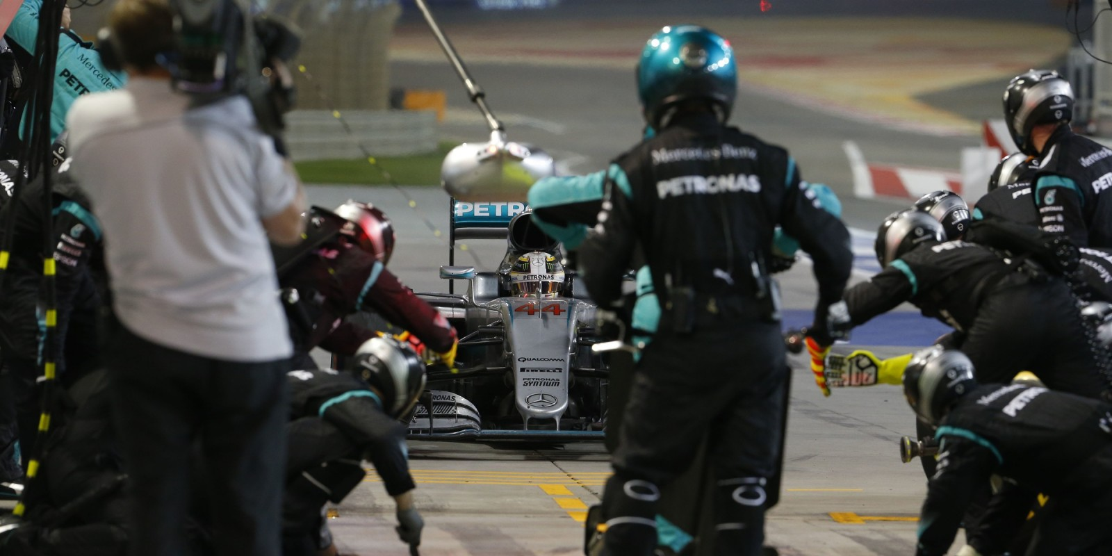 Sunday images of Lewis Hamilton from round two of the 2016 Formula One World Championship