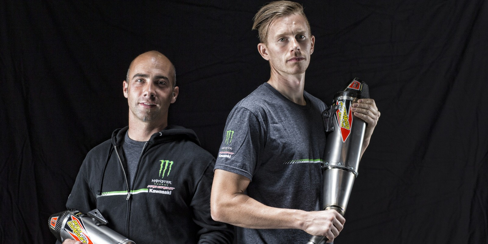Jon Primo and Olly Stone from Monster Energy Pro Circuit Kawasaki