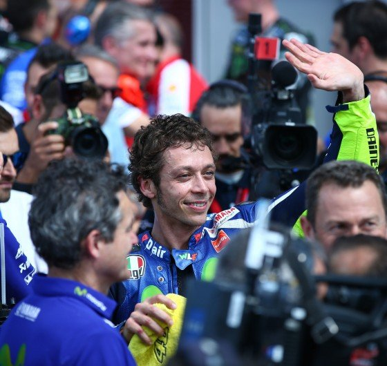 Monster athletes complete during the 2016 MotoGP season in Mugello, Italy
