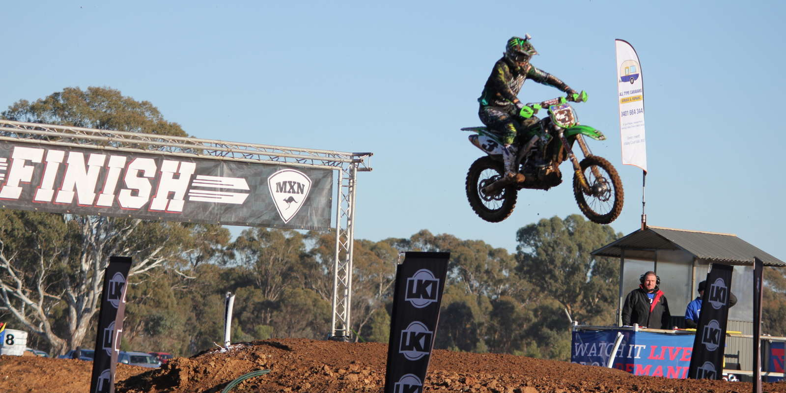 NPS Monster Energy Kawasaki at  Round 7 of the Australian MX Nationals in Shepparton, Victoria