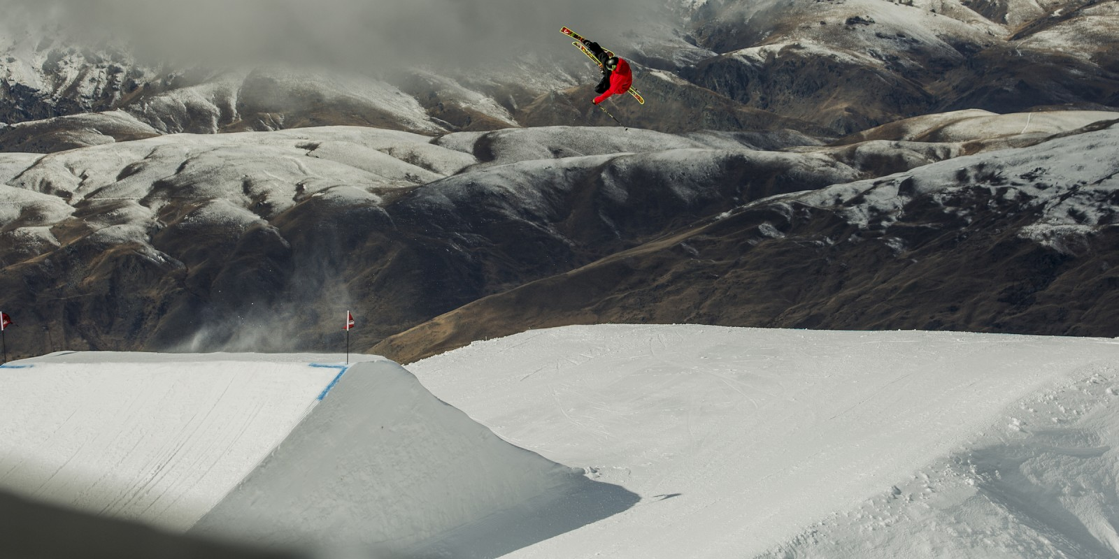 Evan McEachran competes in the New Zealand Winter games.