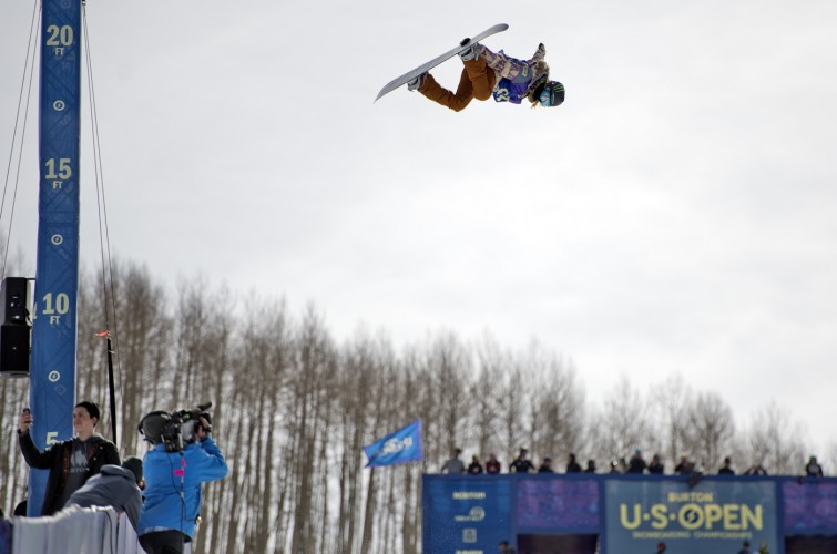 Monster snow athletes compete in the 2016 US Open.