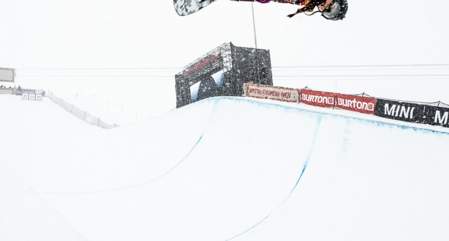 Chloe Kim at the 2015 Burton European Open in Laax, Switzerland