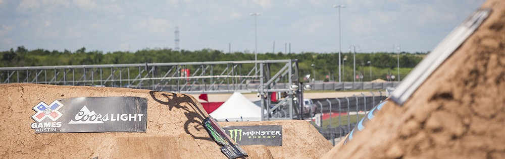 Monster riders compete in the BMX events at the 2016 Summer X-Games in Austin, Texas.
