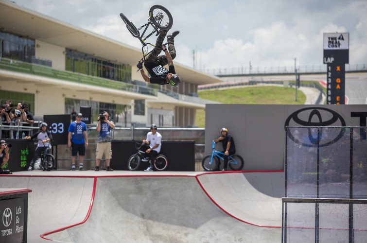 Kyle Baldock Takes Gold in Dave Mirra's BMX Best Trick at the 2016 Summer X Games in Austin, TX, BMX