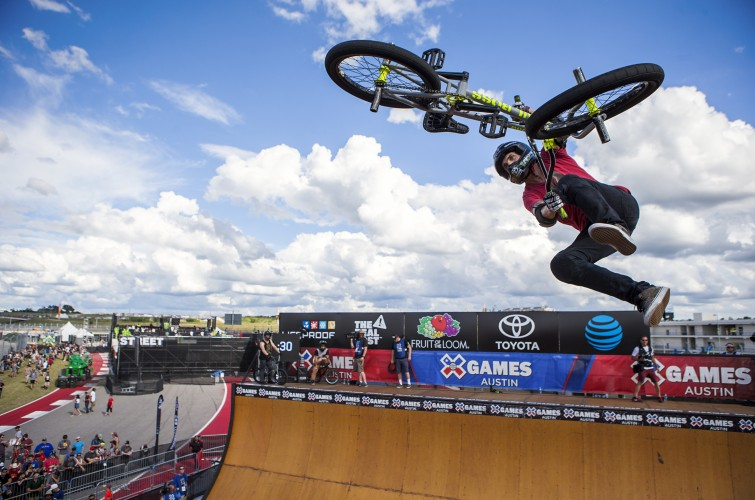 Monster athletes at 2016 Summer X-Games in Austin, Texas, BMX