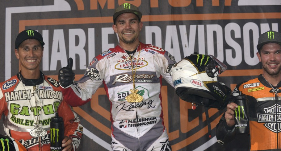 Flat Track podium shots of Monster athletes at the 2016 X-Games in Austin, Texas.